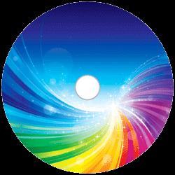 CD-Rohling-mit-farbigem-Thermo-Bilderdruck