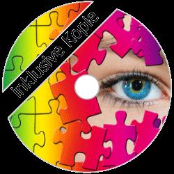 DVD-R kopiert bis 4.7GB mit farbigem Thermodruck