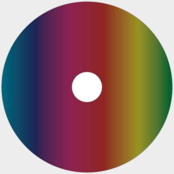 Ab Glasmaster gepresste CD bedruckt mit CMYK Offsetdruck